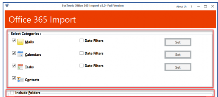 SysTools Office 365 Backup - Data Transfer