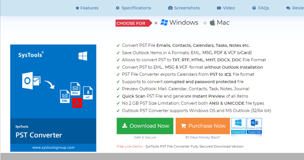 SysTools PST Converter Review