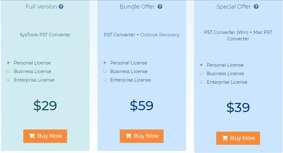 SysTools PST Converter Pricing Review