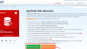 SysTools SQL Recovery Review - SysTools SQL Recovery