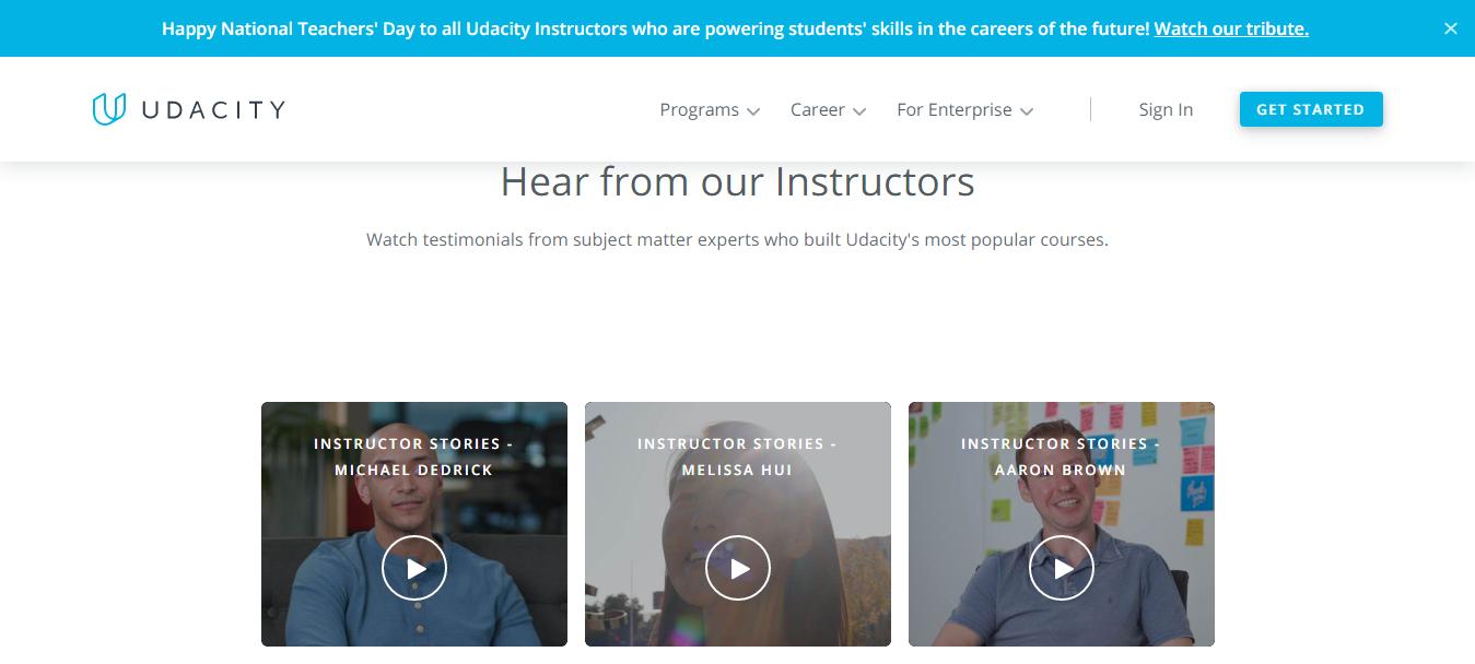 Udacity Tutors and Instructors