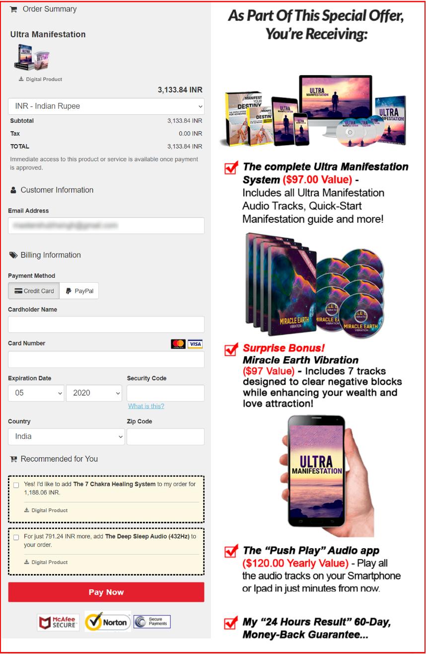Ultra Manifestation Pricing