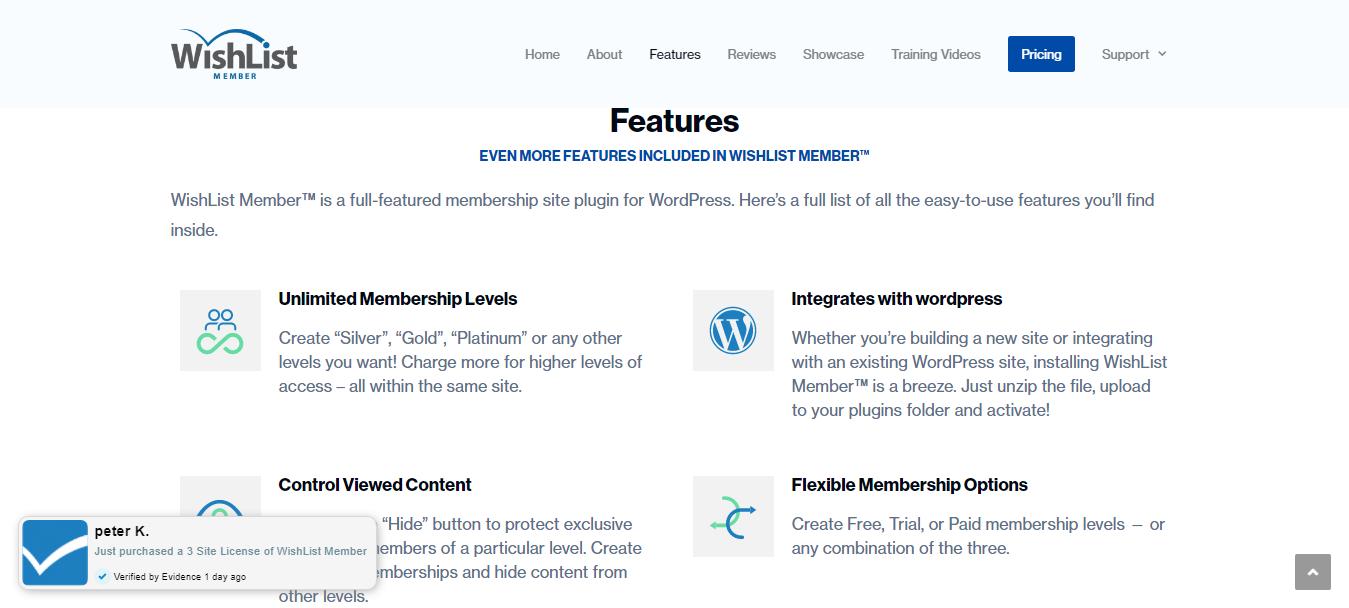 Wishlist Member- Features