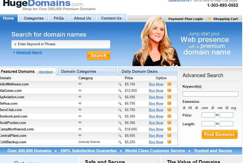 Hugedomains-Online shopify Store