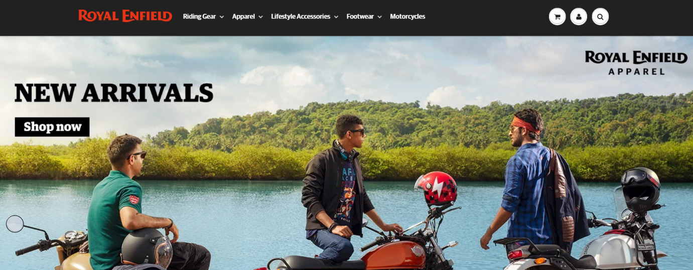 Royalenfield- Shopify India Store