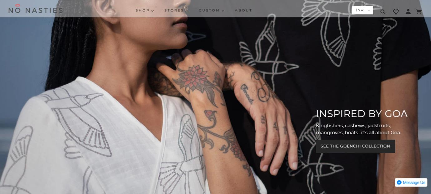 Nonasties-Online shopify store in India