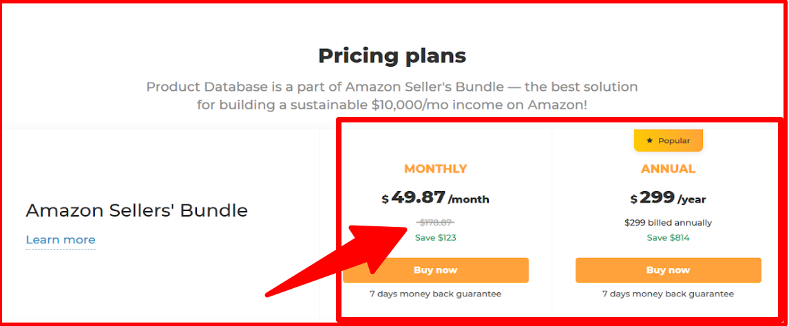 AMZScout- Pricing Plan