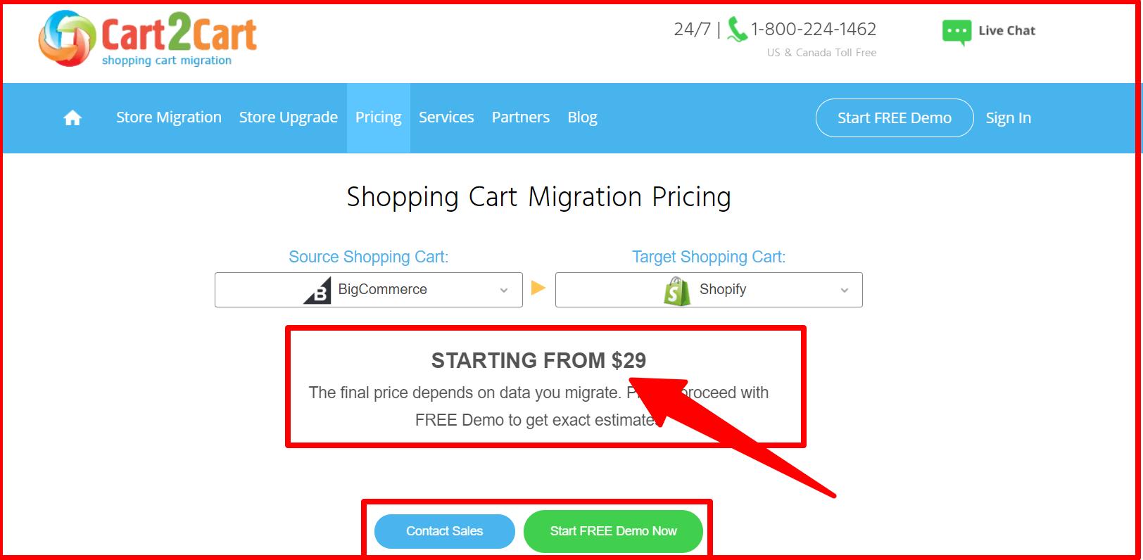 Cart2Cart -Pricing