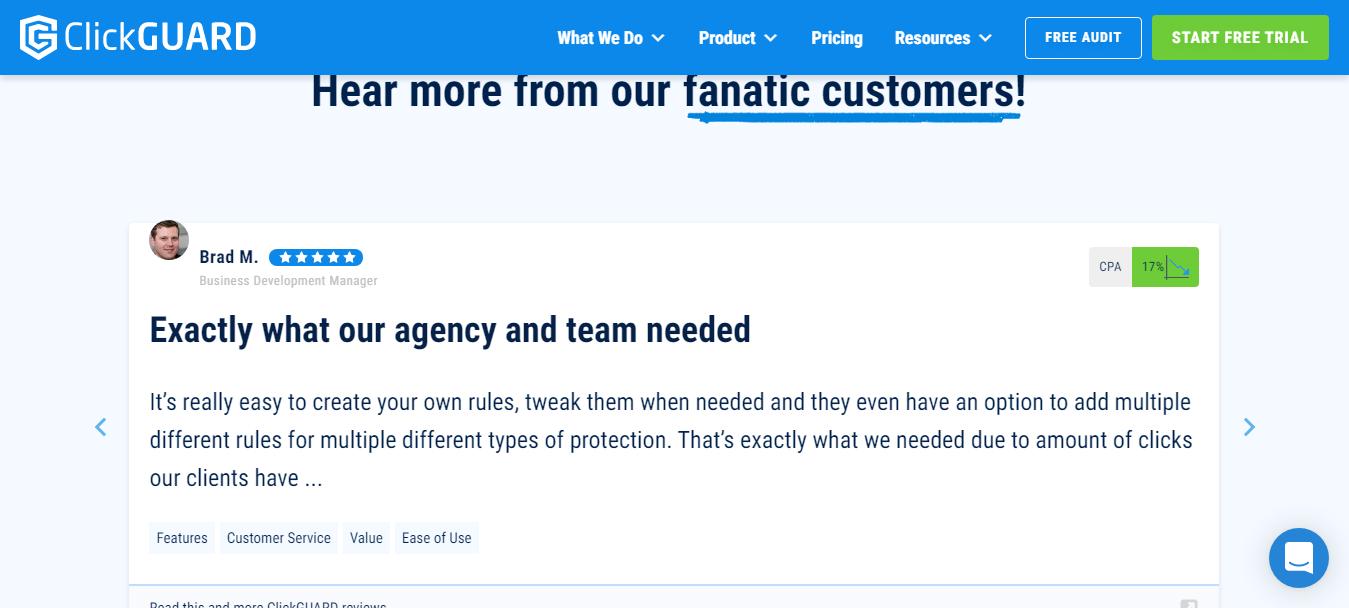 ClickGUARD Customer Reviews