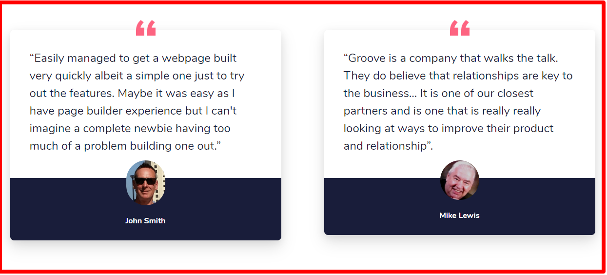 GroovePages - Testimonials