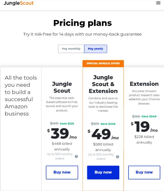 Jungle Scout-Price
