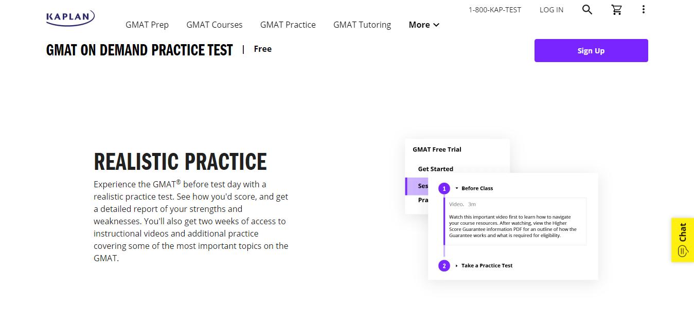Kaplan GMAT Free trial clasess