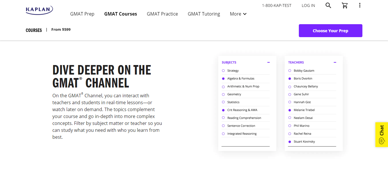 Kaplan GMAT Interactive lessons
