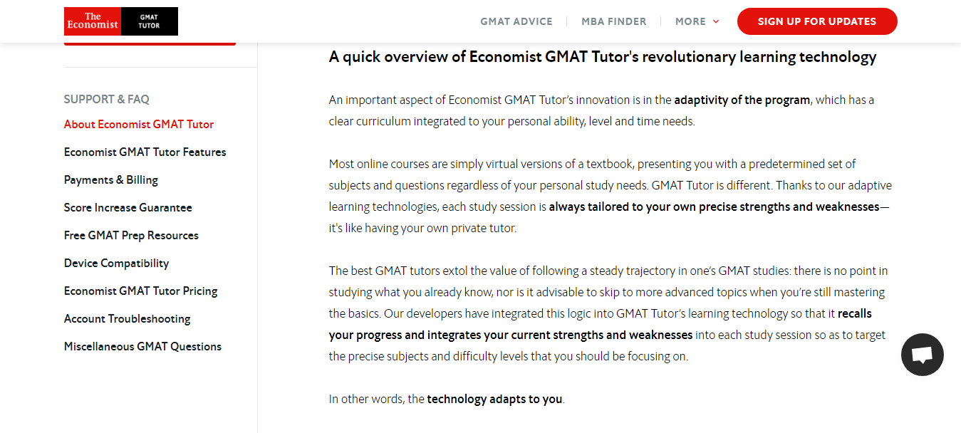 Learning technology by Economist GMAT