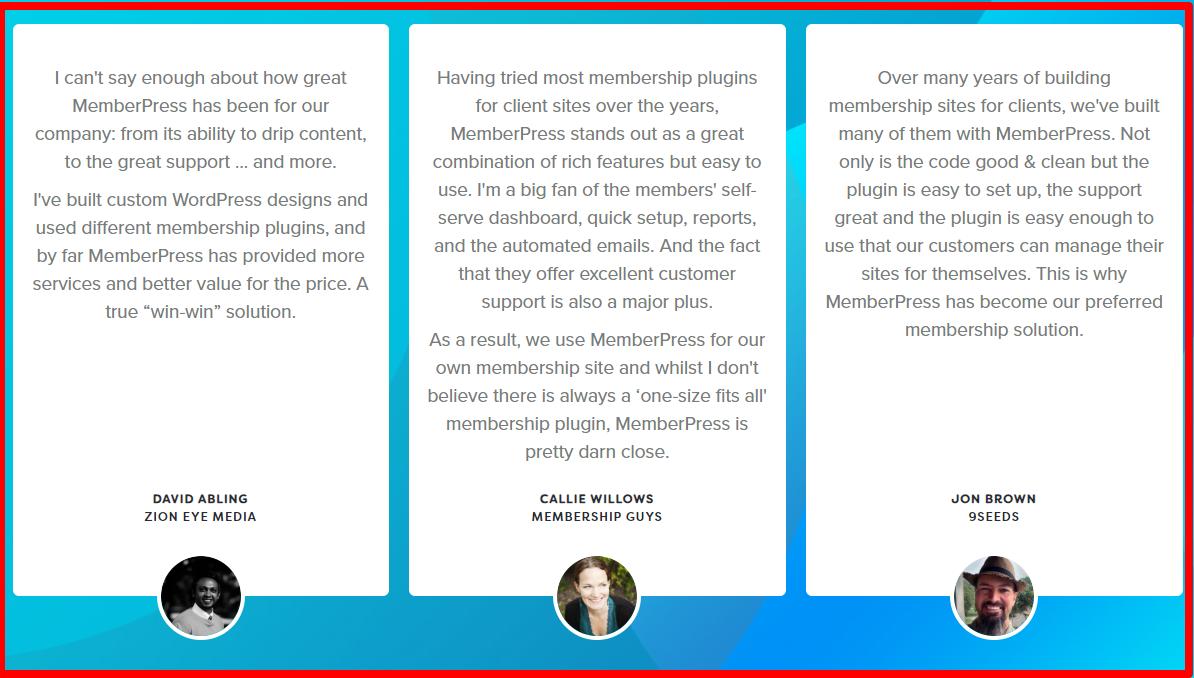 MemberPress - Testimonials