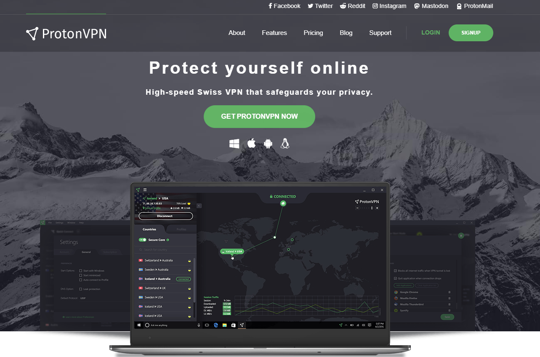 ProtonVPN vs NordVPN - ProtonVPN