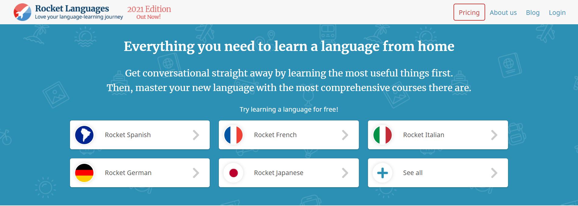 Rocket Language-Languages