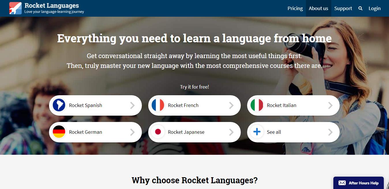 Rosetta Stone Language Offered