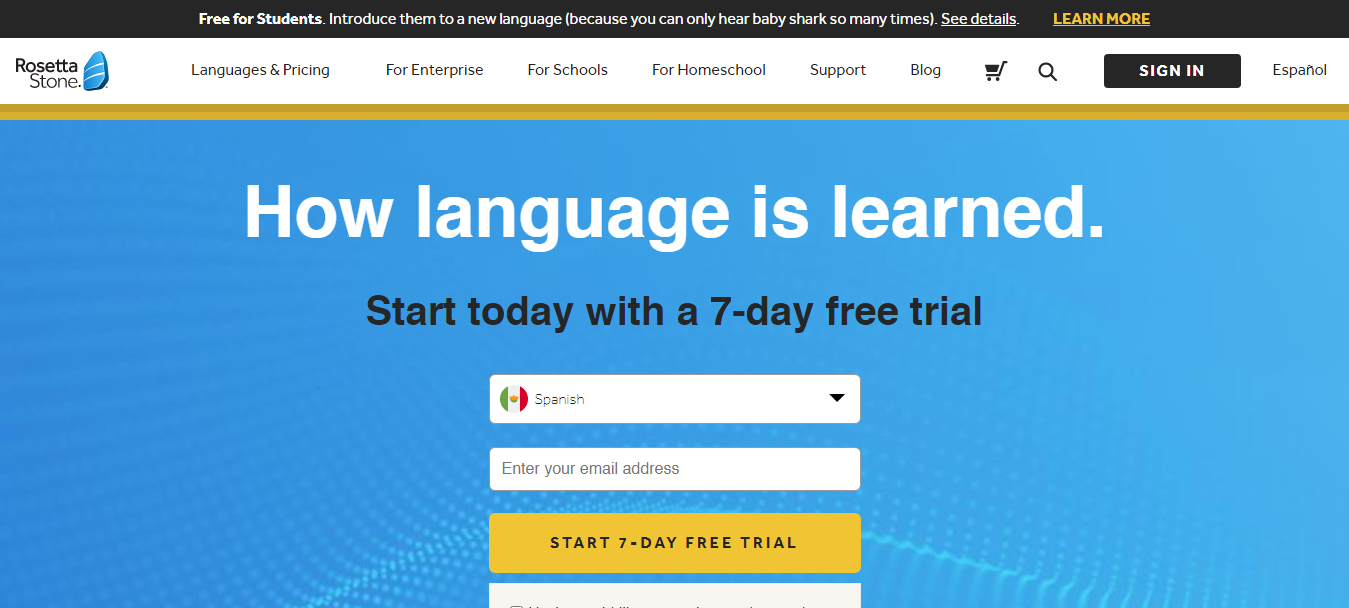 Rosetta Stone Free Trial