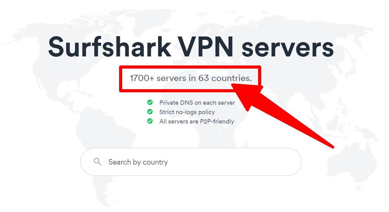 Surfshark - Server