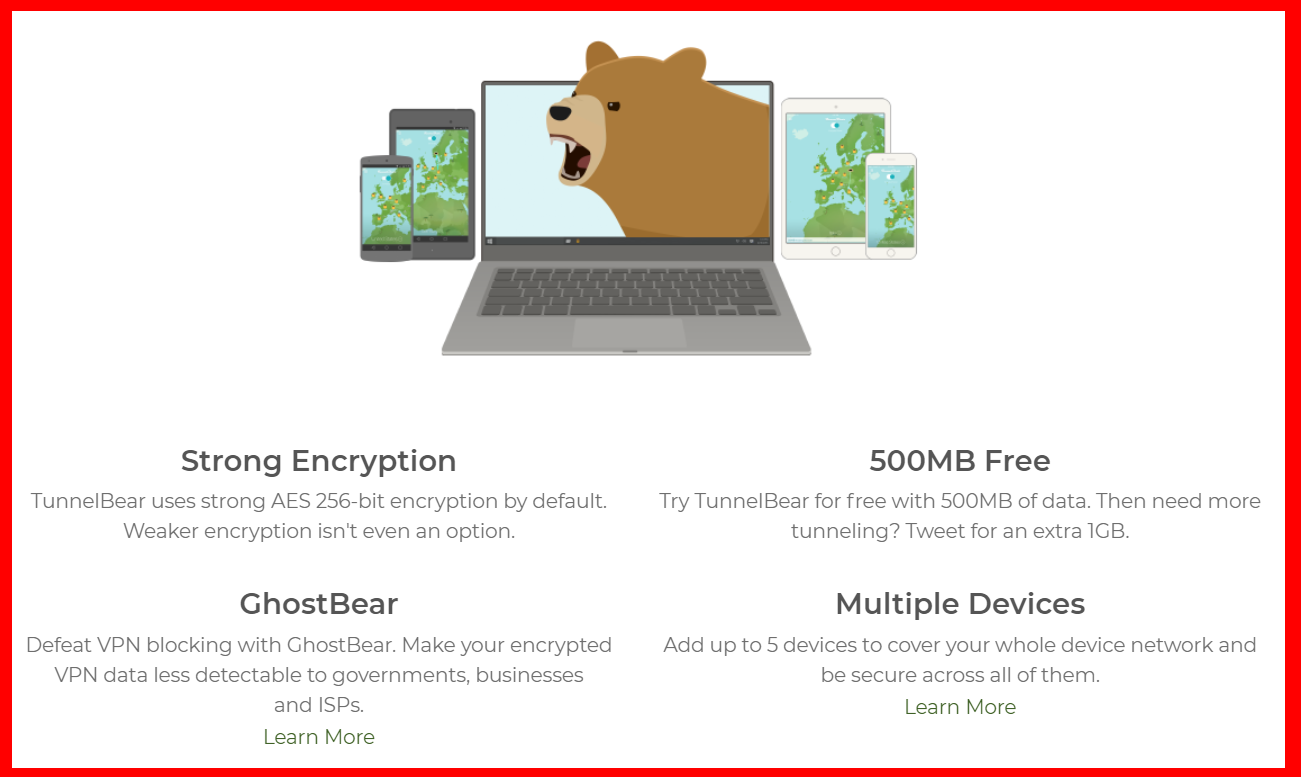 TunnelBear - Encryption