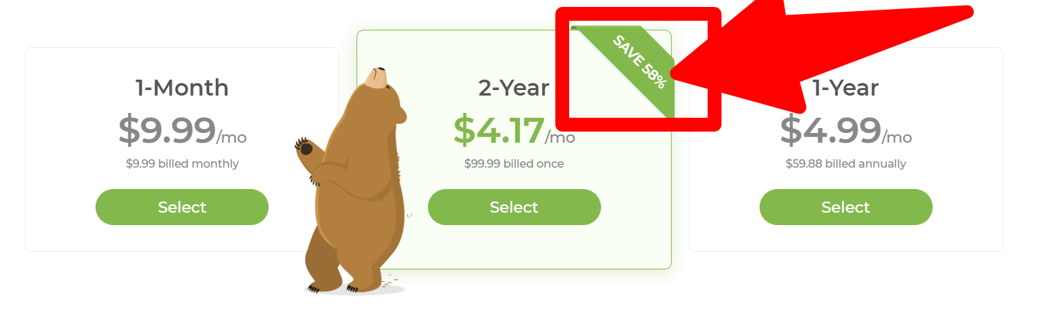 TunnelBear - Pricing Plan