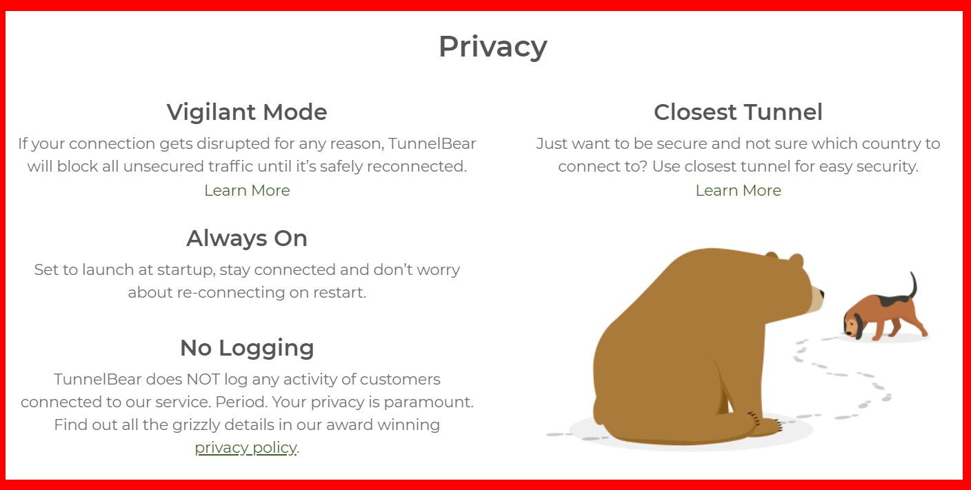 TunnelBear - Privacy