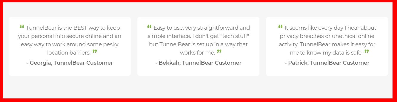 TunnelBear - Testimonials
