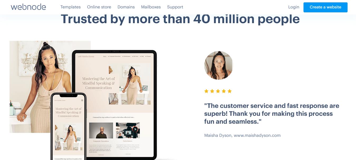 Webnode Customer Reviews