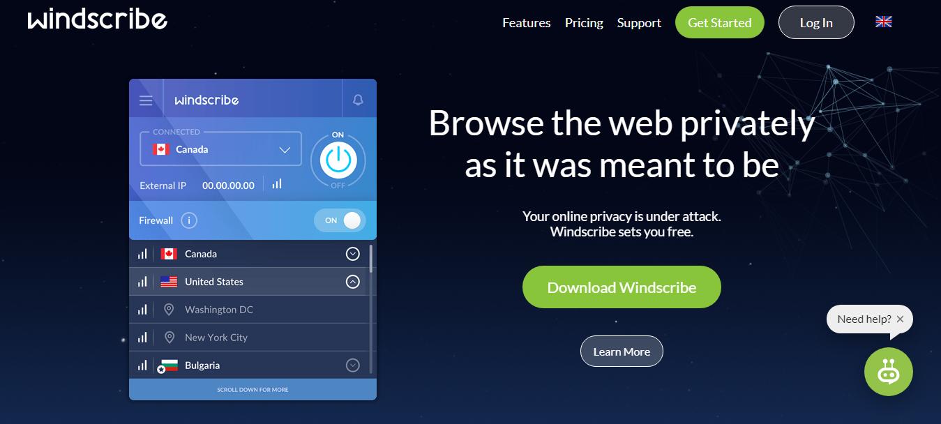 Windscribe VPN Service