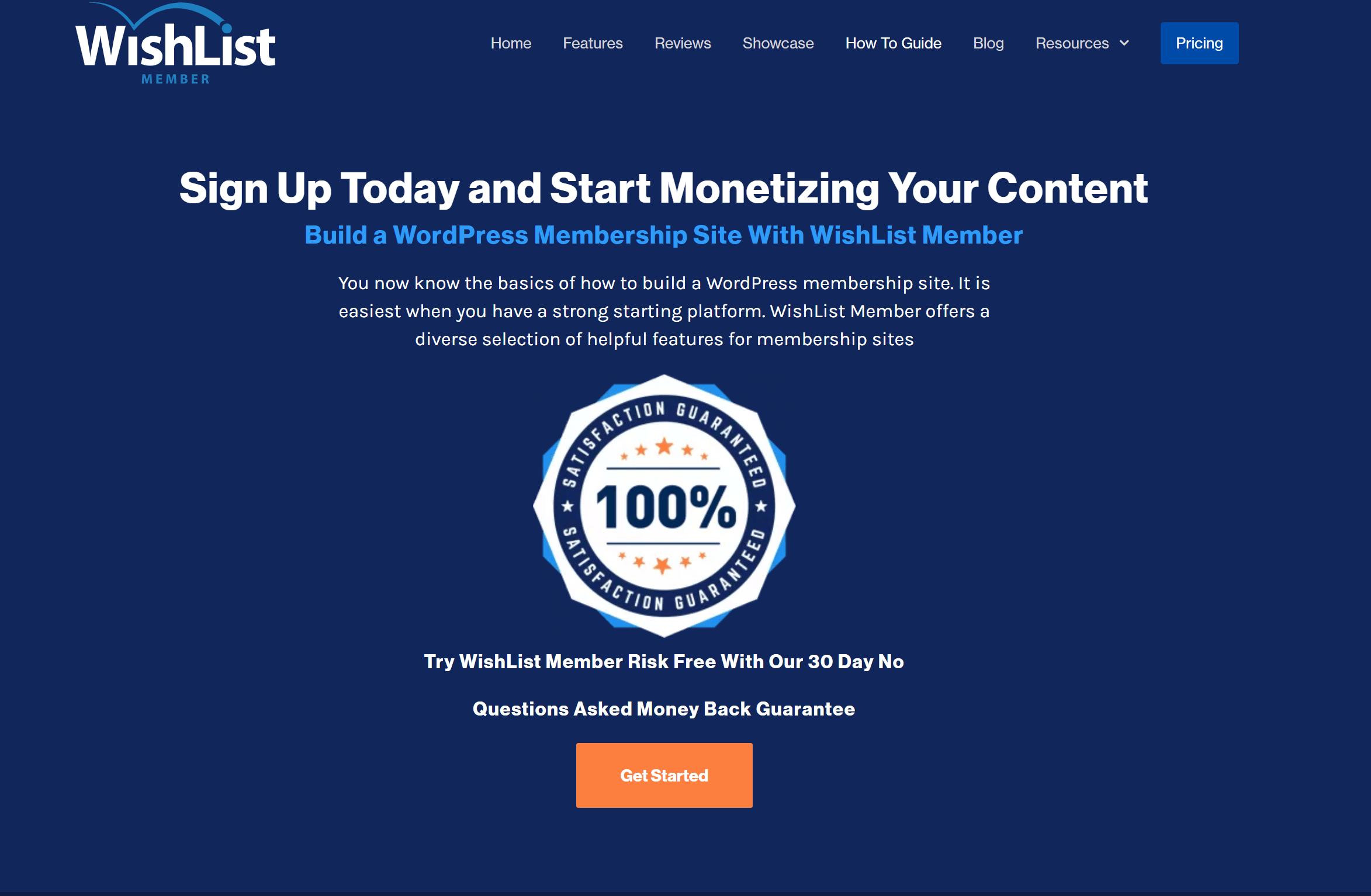 Wishlist member pricing guarantee