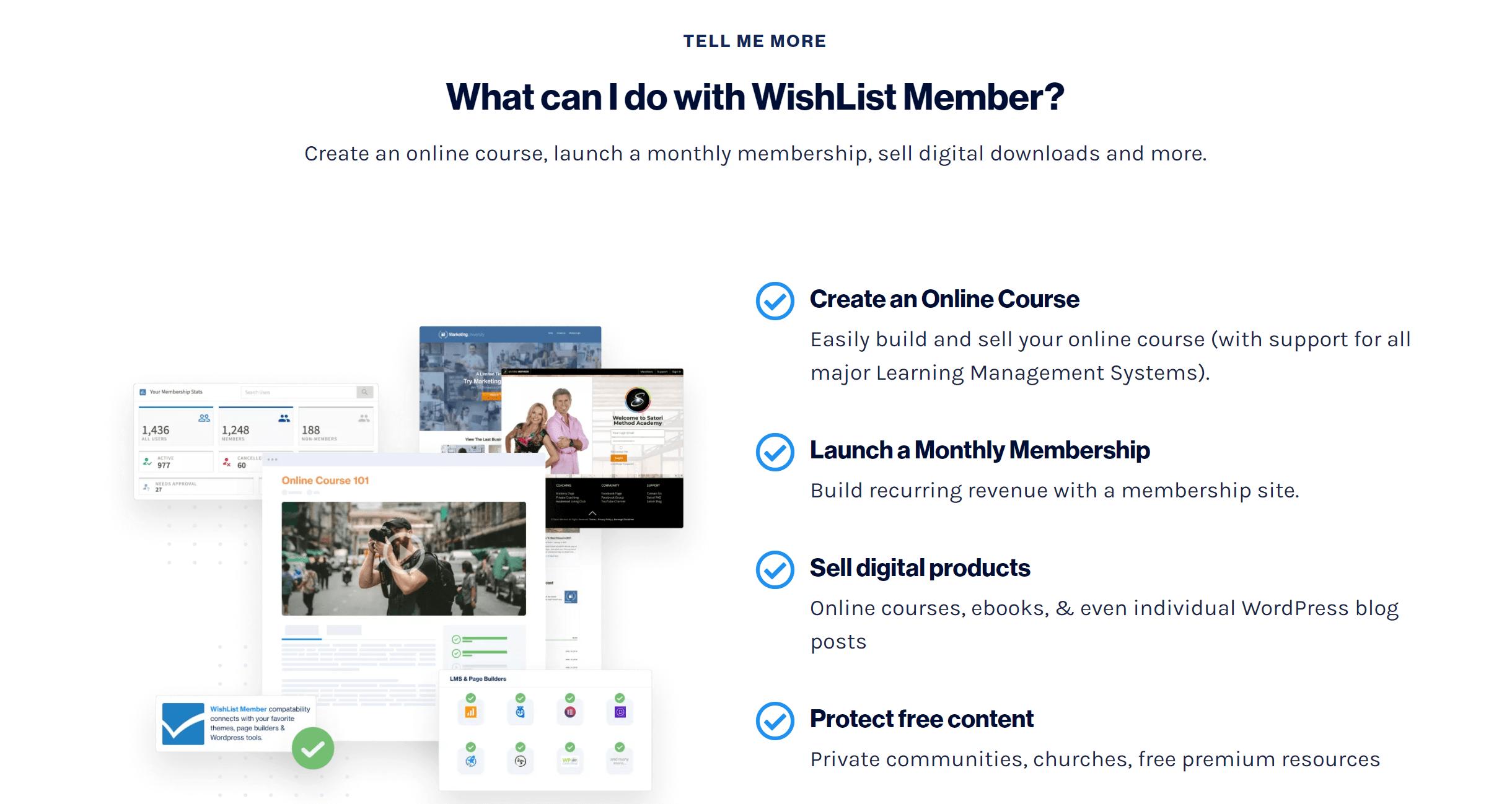 Wishlist membership products