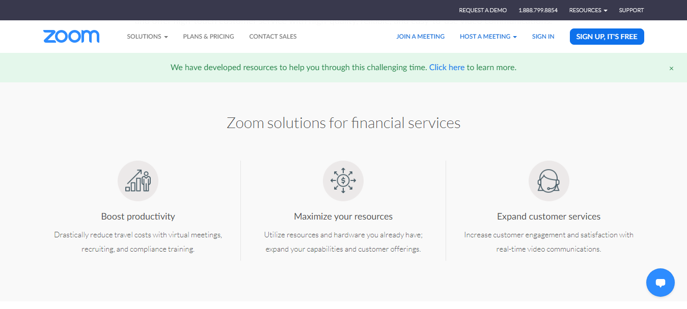 Zoom For Financial Service