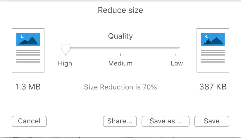 Reduce Size