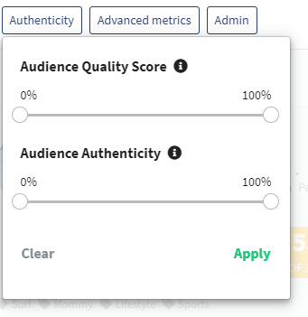 Authenticity filter