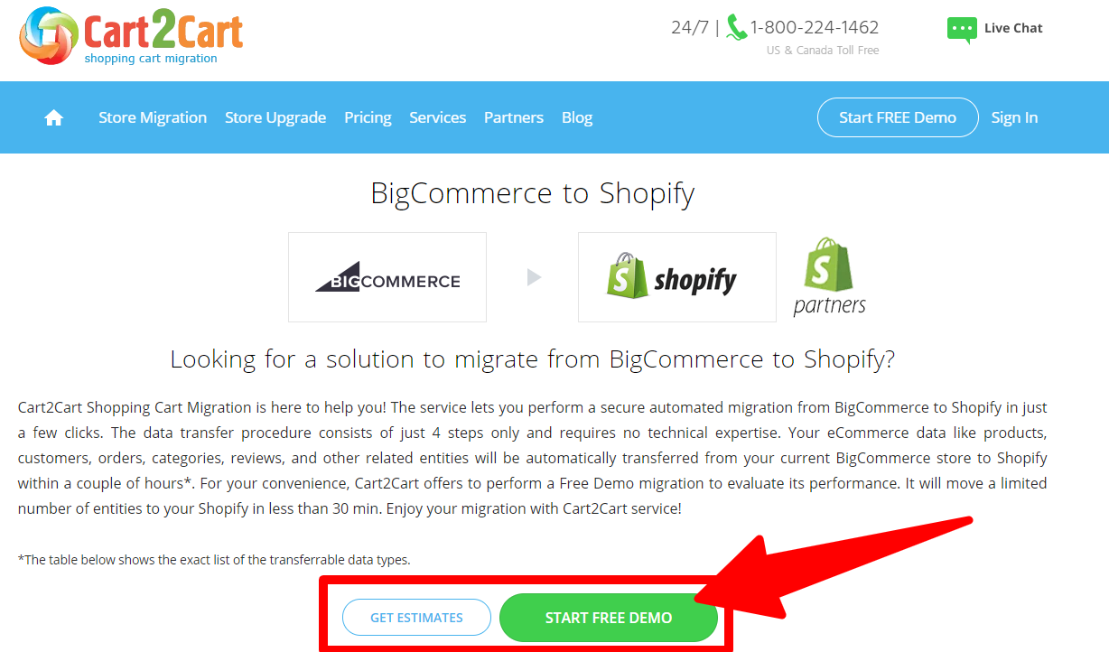BigCommerce to Shopify Using Cart2Cart - BigCommerce_to_Shopify