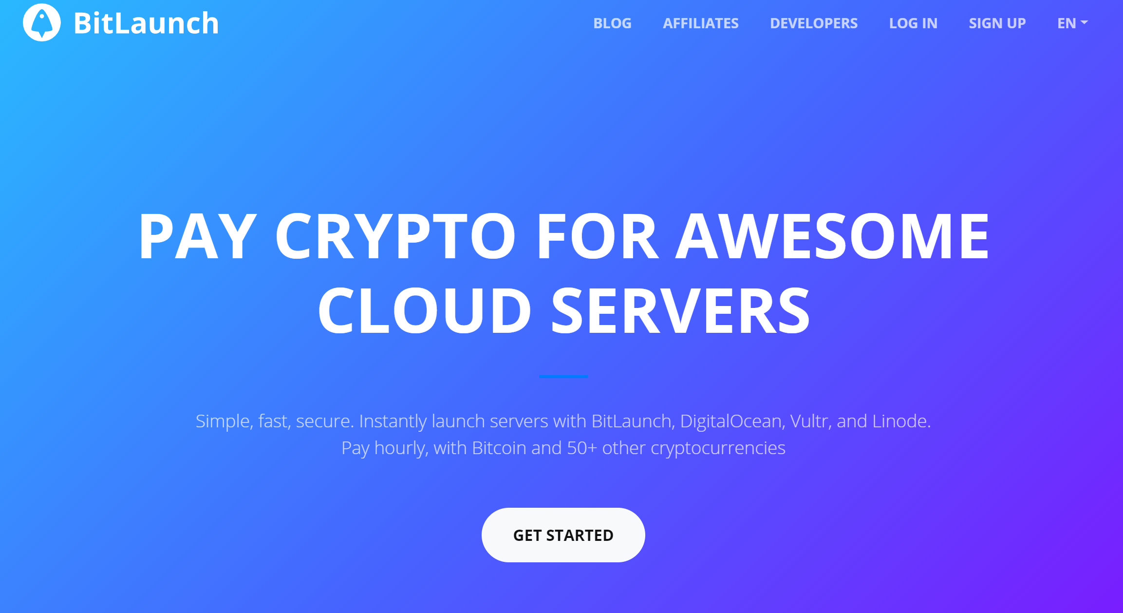 Bitlaunch Bitcoin VPS Hosting