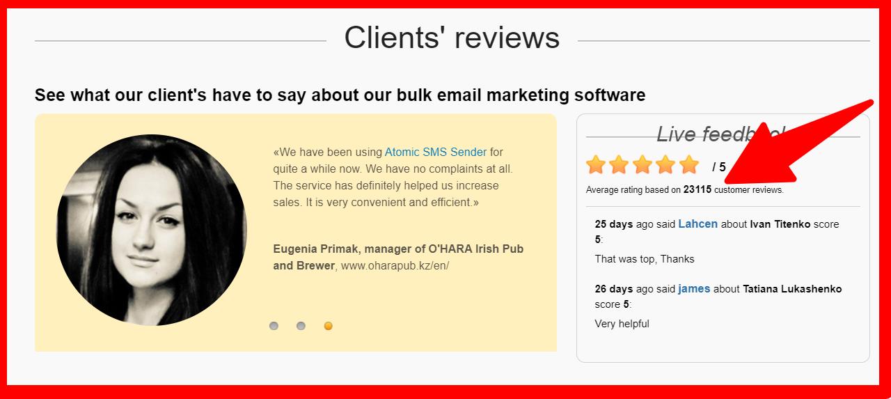 Bulk-Email-Marketing- Testimonials