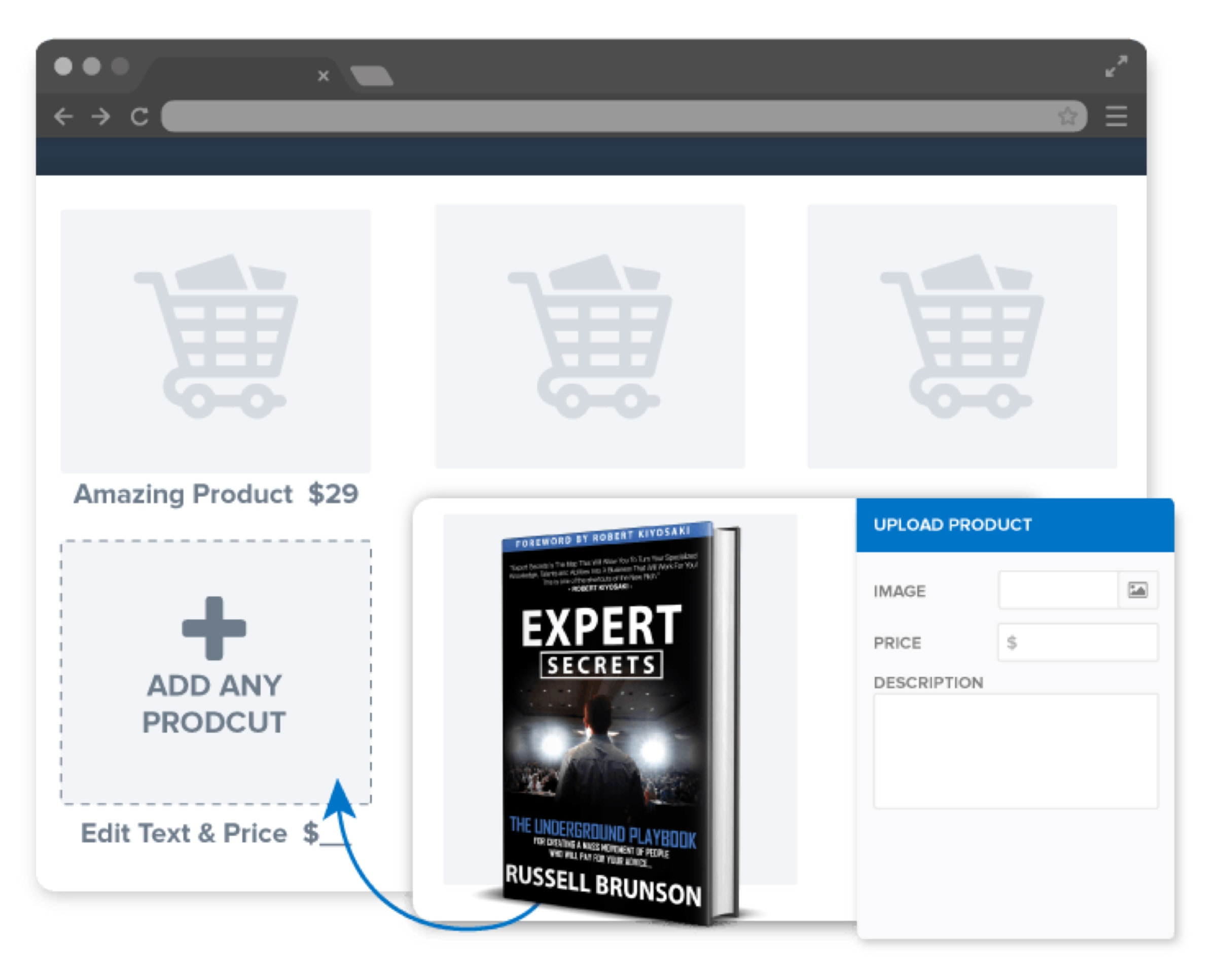 Easy Shopping Cart Feature