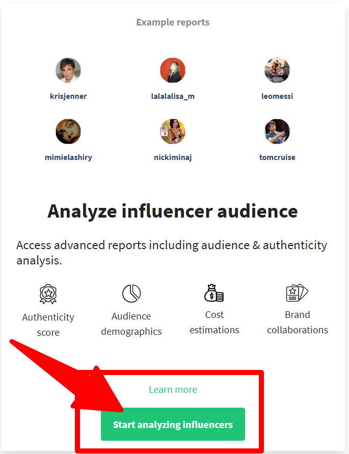 Heepsy_ Analyze Influencer