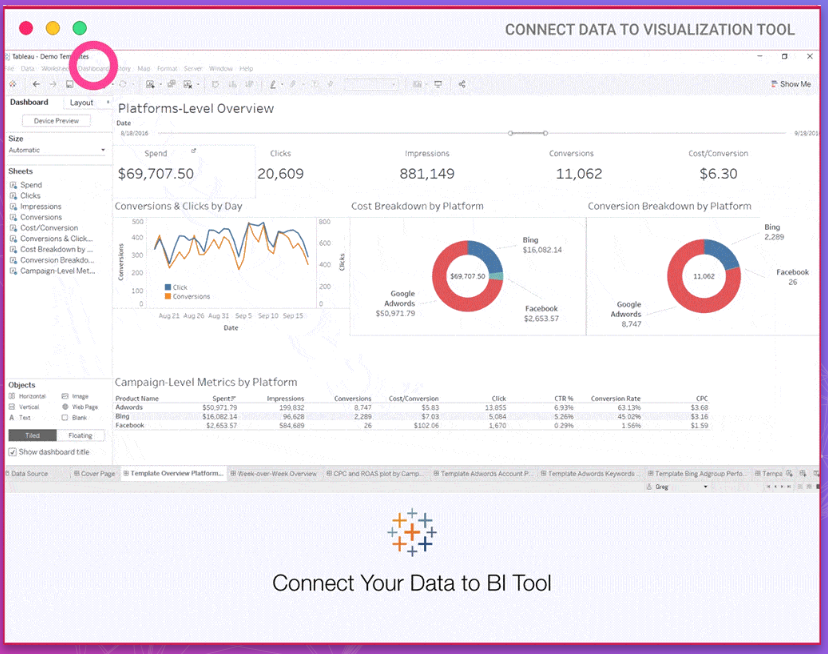 Improvad Connect Data and analytics