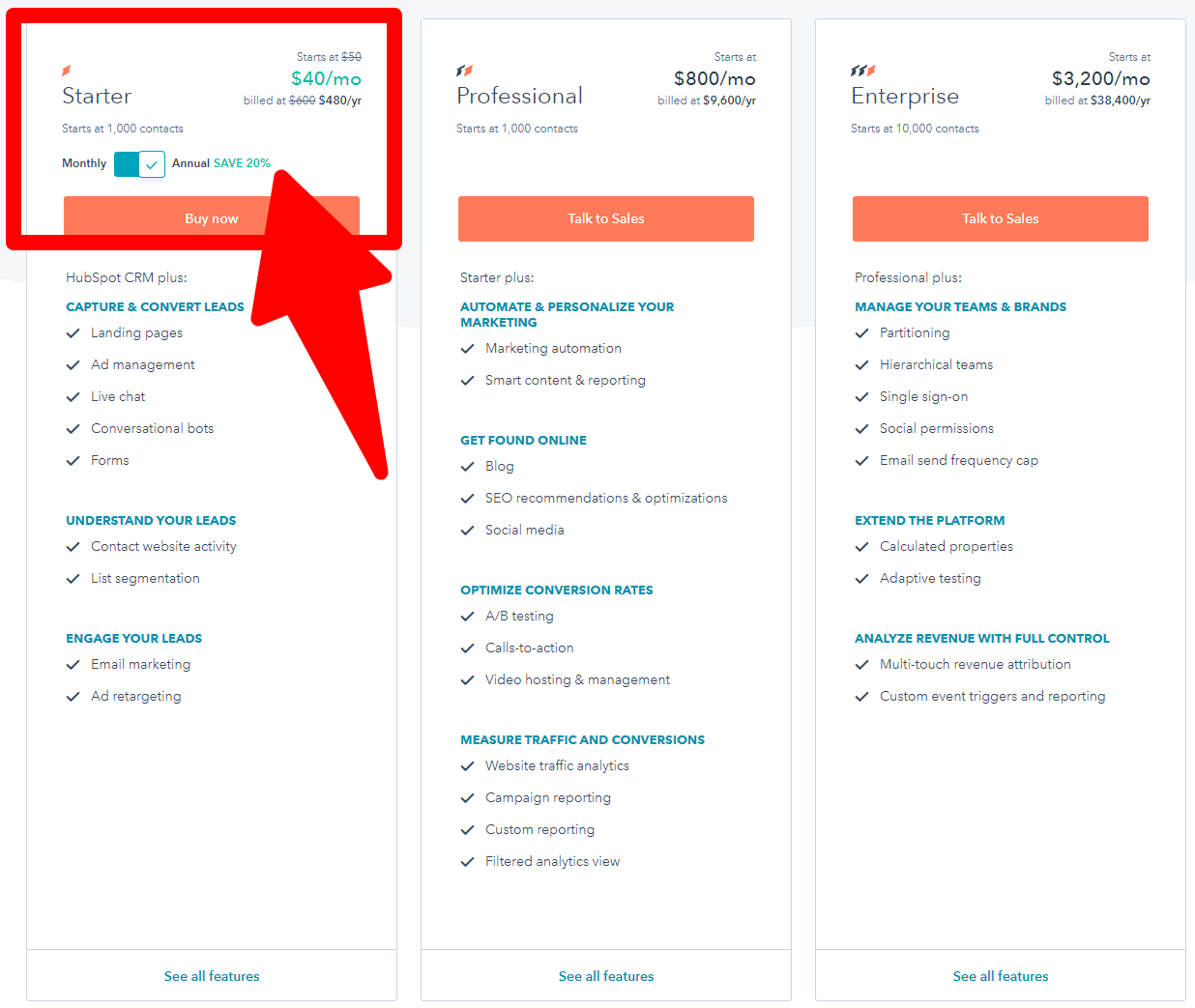 WishPond Alternatives - Pricing-HubSpot