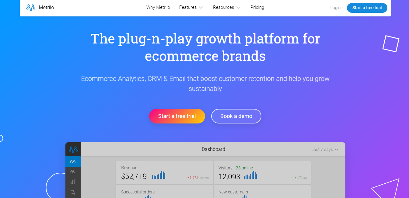 Metrilo CRM for Shopify stores