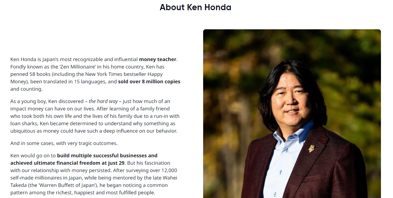 Mindvalley Ken Honda About