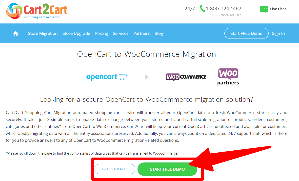 OpenCart and WooCommerce Using Cart2Cart - OpenCart_to_WooCommerce