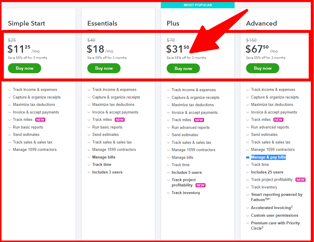 QuickBooks vs Tally Comparison_ Pricing Plan
