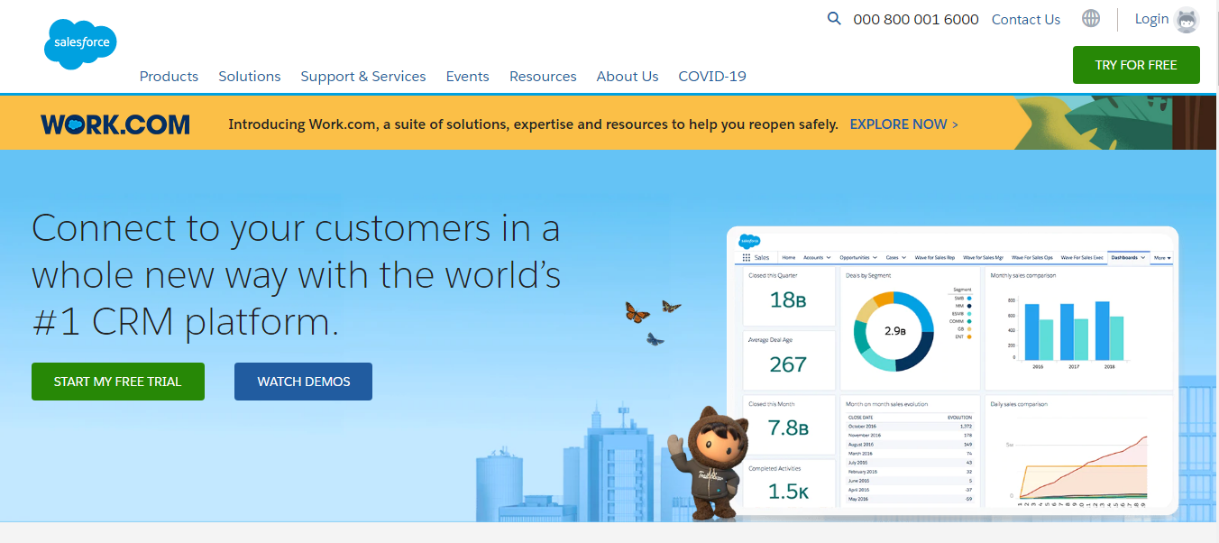 Best shopfiy CRM -Salesforce
