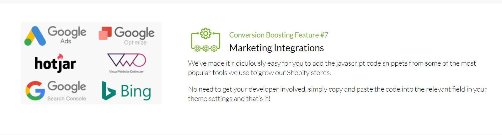 Shoptimized - Marketing Integration