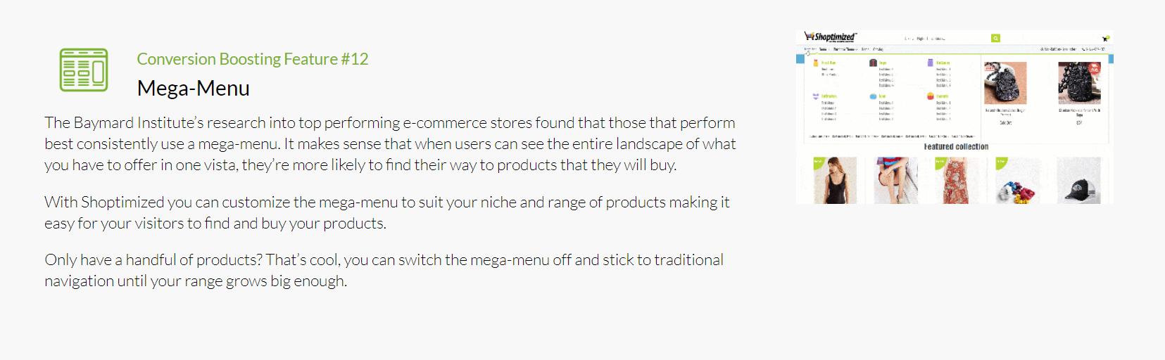 Shoptimized - Mega Menu