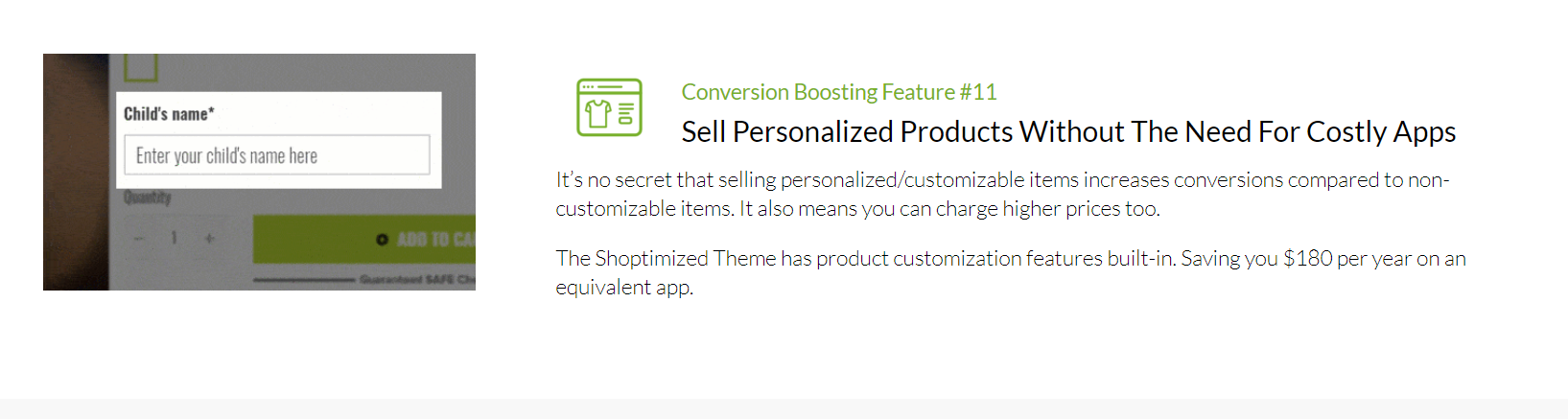 Shoptimized - Sell Personalized